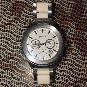 DKNY white & silver watch!